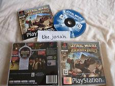 Star Wars Jedi Power Battles PS1 (COMPLETE) Sony Playstation rare black label
