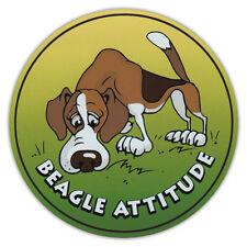 Rund Hund Rasse Auto Magnet - Beagle Attitude - Stoßstangen Sticker Aufkleber