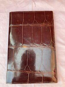 Vintage Mans Crocodile Skin Brown Wallet