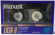 Maxell UDX-II 90 Blank Audio Cassette Tape NEW RARE 1986 year made in Japan
