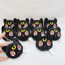 "3"" Sailor Moon Black Cat Luna Diana Plush Stuffed Doll Toy Keychain Keyring Gift"