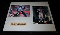 Eddie George Signed Framed 16x20 Photo Set JSA Oilers Titans OSU