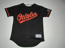 Manny Machado #13 Baltimore Orioles Majestic Black Button Up Jersey Youth Size S