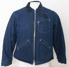 Key Imperial Vtg. Zip Collar Pockets Insulated Denim Jean Jacket Coat Men's 44