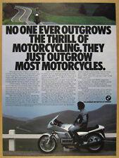 1985 BMW K100RS Motorcycle color photo vintage print Ad
