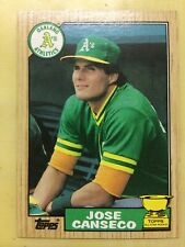 1987 Topps Jose Canseco Baseball Card Athletics Rookie #620 High Grade