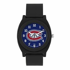 Game Time 'FAN' Quartz Plastic and Rubber Casual Watch, Color:Black (Model: NHL-