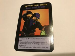 LAW AND ORDER : Illuminati INWO CCG One With All Edition TCG card: Police PLOT