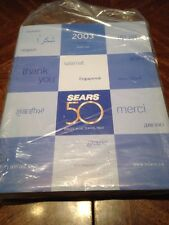 2003 Sears 50 Year Anniversary Annual Premier Issue Catalog