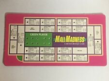 VINTAGE 1989 MALL MADNESS SHOPPING MALL BOARD GAME REPLACEMENT PART GREEN CARD