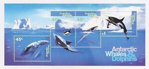 1995 AUSTRALIA AAT MINI SHEET 'ANTARCTIC WHALES & DOLPHINS' - MINT MNH