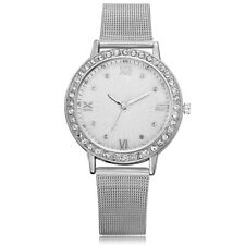 Women Girl Simple Style Quartz Wrist Watch Thin Mesh Alloy Strap Casual Watches