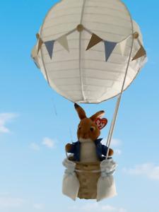 Peter Rabbit  in a hot air balloon nursery light shade,