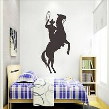 Huhome PVC Wall Stickers Wallpaper Western Cattle child riding silhouette glazin