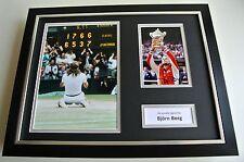 Bjorn Borg SIGNED FRAMED Photo Autograph 16x12 display Tennis Sport & COA