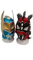 WWE Blue Sin Cara & Red Kalisto w/Tail Wrestling Masks Lucha Dragons Kids Adult