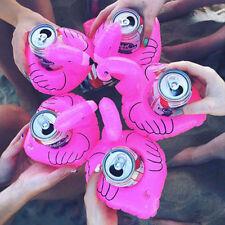 5Pcs Flamingo Flottant Gonflable Boisson Coke Bière Titulaire Piscine Jeux Bain