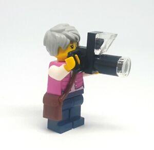 LEGO City Outdoor Photographer Minifigure & Zoom Camera Train Town Scene Gift
