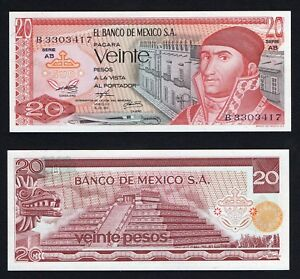 Messico 20 pesos 1973 FDS/UNC  A-05