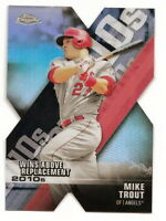 2020 TOPPS CHROME MIKE TROUT DECADE OF DOMINANCE DIE-CUT REFRACTOR INSERT