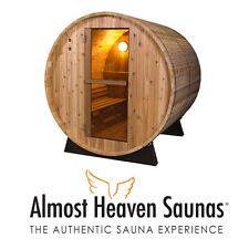 Brand New Pinnacle Rustic Barrel Sauna from Almost Heaven Saunas