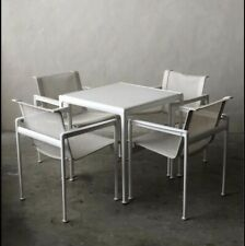 Richard Schultz Knoll Dining Table And 4 Chairs All White