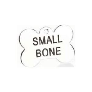 Stainless Steel Bone Dog ID Tag Personalised Engraving On Both Sides 2 Sizes