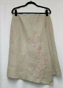 Next Stone Wrap Style Skirt Size 14 Embroidered Skirt Embellished Skirt - D9
