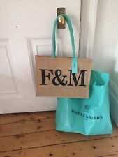 Fortnum and Mason Large canvas shopping Bag  - Brand New With F&M Tag