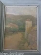 Peinture village seillans année 1950 signé