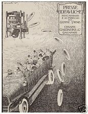 PUBBLICITA'1920 GALDABINI GALLARATE PRESSA IDRAULICA PER GOMME PIENE AUTO CAMION