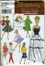 "11 1/2"" Fashion Doll Patterns from Simplicity Archives"