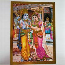 Altarbild Sita-Rama Prägedruck Indien Hinduismus  Bild Guru Om Puja 24