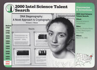 VIVIANA RISCA 2000 Intel Science Talent Search GROLIER STORY OF AMERICA CARD