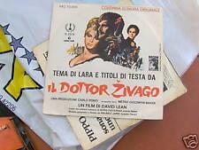 """7"""" IL DR.ZIVAGO-ZHIVAGO TEMA DI LARA OST MGM EX++/MINT"""