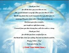Father's Day Gift 4 That Special Dad from your Son Personalized Poem Rainbow