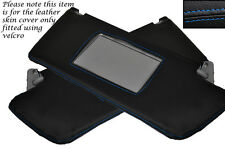 BLUE STITCH 2X SUN VISORS COVERS FITS VAUXHALL OPEL HOLDEN VECTRA C SIGNUM