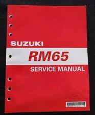 2002 SUZUKI 65 RM65 MINIBIKE DIRT BIKE MOTORCYCLE SERVICE MANUAL VERY CLEAN!