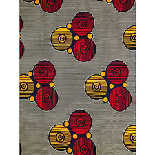 African Circles Print Fabric BY 1/2 YARD Ankara style kitenge fancy wax p1149