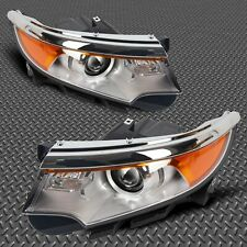 For 2011-2013 Ford Edge Driver & Passenger Side Pair Front lamp new Headlight