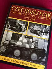 CZECHOSLOVAK ARMORED FIGHTING VECHICLES 1918-1948 Book Czech Czechoslovakia AFV