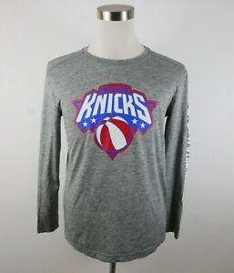 NBA New York Knicks Mens Polyester LS Gray T Shirt Fanatics M Hoops for Troops