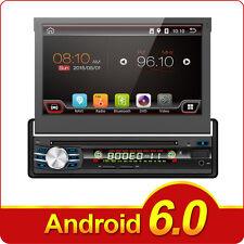 "Single 1 DIN 7"" Android 6.0HD Flip Up GPS Navigation Car Stereo CD DVD Map Radio"