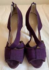 Ladies Wittner High Heel Sandals Purple Suede Leather / Fabric Size 37