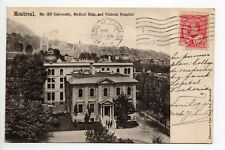CANADA carte postale ancienne MONTREAL Mc Gill university médical bldg