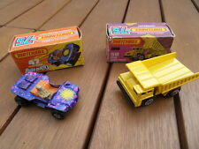 vintage car toys ancien jouet Matchbox Superfast Beach Hopper Buggy Dump Truck