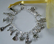 Beauty and the Beast Theme Charm Bracelet Party Gift Bag Filler Charm Belle