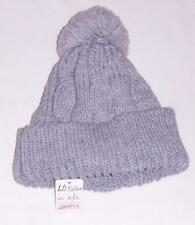 80ce3e11039 NEW L.A. EXPRESS GRAY KNIT HAT WITH POM POM-GIRLS-WINTER WARM BEANIE CAP