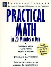 Practical Math in 20 Minutes a Day (Skill Builders for Test Takers) by Robinovi