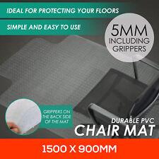New Chair Mat Vinyl Protector Carpet Floor Office Computer Work PVC 1500x900mm